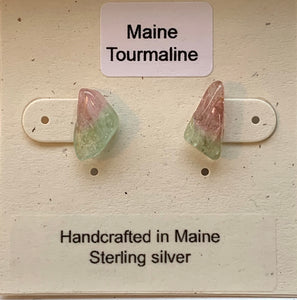 Maine Tourmaline Post Earrings