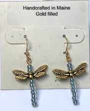 Load image into Gallery viewer, Dragonfly Beaded Earrings