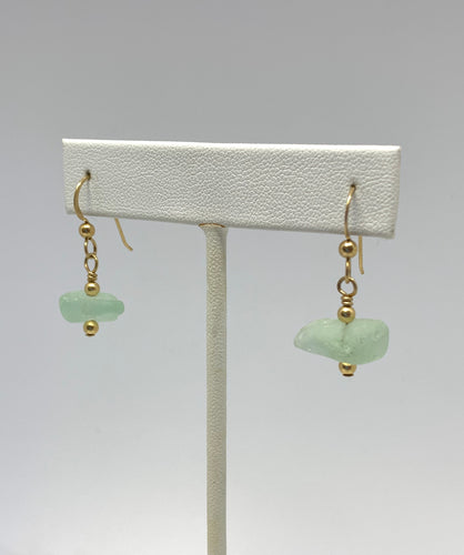 Sea Glass Dangle Earrings