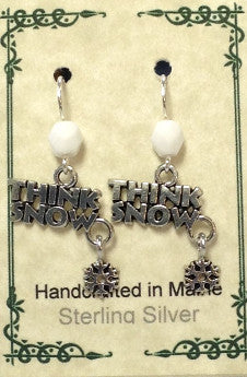 """Think Snow"" Earrings"