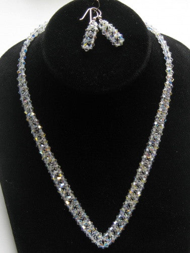Swarovski Crystal Tennis Necklace - Lively Accents