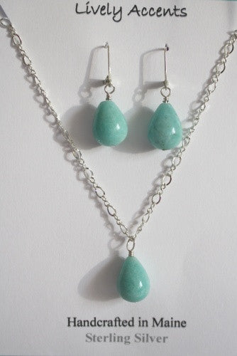 Amazonite necklace set - Lively Accents