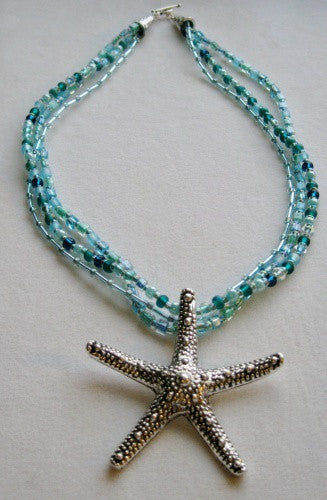 Multi Strand Starfish Necklace - Lively Accents
