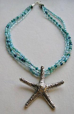Multi Strand Starfish Necklace