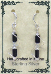 Sterling Silver Wire Wrap Czech Glass Earrings - Lively Accents