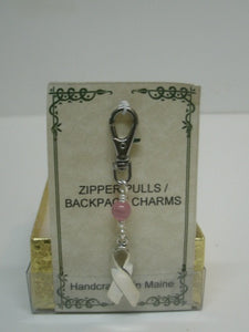 Breast Cancer Zipper Pull - Lively Accents