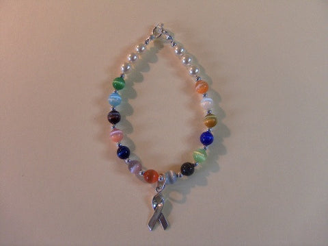 Multi Color Cancer Bracelet