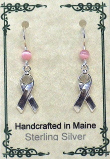 Sterling Silver Cancer Awareness Earring