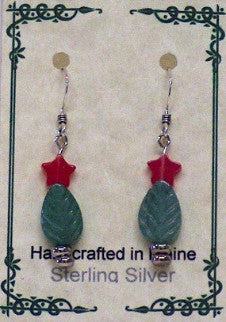 Christmas Trees - Sterling Earwires
