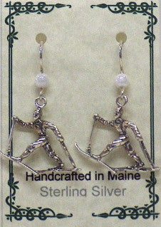 Cross Country Skier Earrings