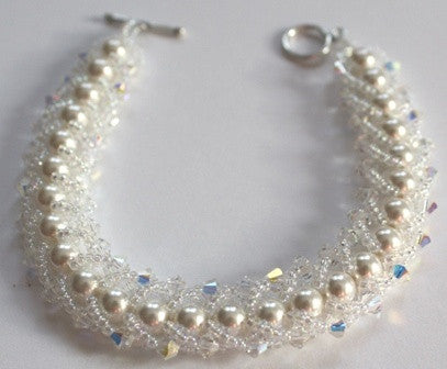 Pearl and Crystal Bracelet - Lively Accents