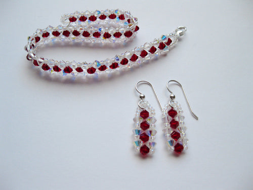Swarovski Crystal Bracelet and Earring Set - Lively Accents