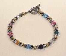 Load image into Gallery viewer, Family Bracelet with Swarovski crystals - Lively Accents
