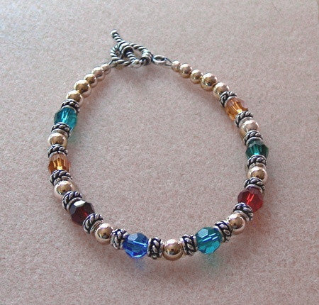 Family Bracelet with Swarovski crystals - Lively Accents