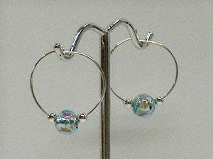 Glass Foil Hoop Earrings - Lively Accents