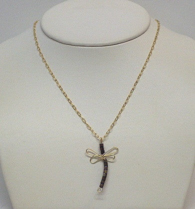 Gold Filled Wire Dragonfly - Lively Accents