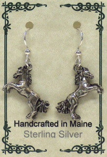 Horse Earrings - Silver