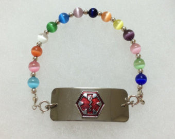 Interchangeable replacement bracelet medical alert - Lively Accents
