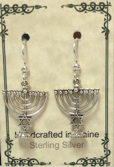 Sterling Silver Menorah - Lively Accents