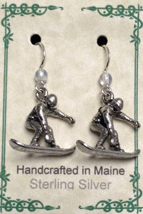 Snowboarder Earrings - Lively Accents