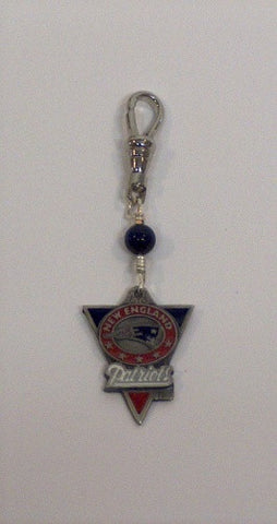 Red Sox or Patriots Zipper Pull/Purse Charm