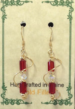 Load image into Gallery viewer, Gold Filled Wire Wrap Czech Glass Earrings - Lively Accents