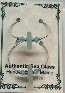 Seafoam - Sea Glass Earrings - Lively Accents