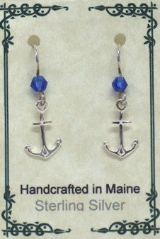 Sterling Silver Anchor Earrings - Lively Accents