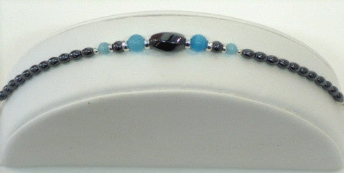 Sterling Silver and Hemitate Bracelet - Lively Accents
