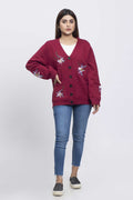 MAROON-FULL SLEEVES-CARDIGAN