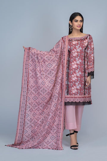 Bonanza Satrangi Salmon Pink Summer Collection