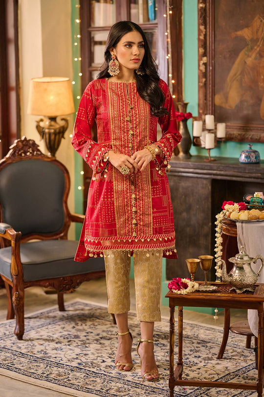 Bonanza Satrangi Asr211p07 Red Eid Collection
