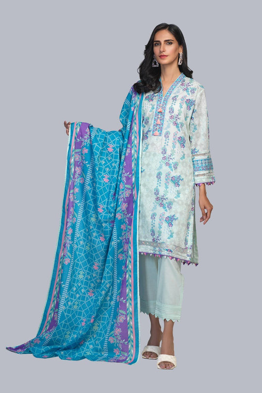 Bonanza Satrangi ASR213P30-AP-GREEN Eid Collection