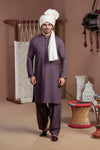 PURPLE-VISCOSE-KURTA SHALWAR