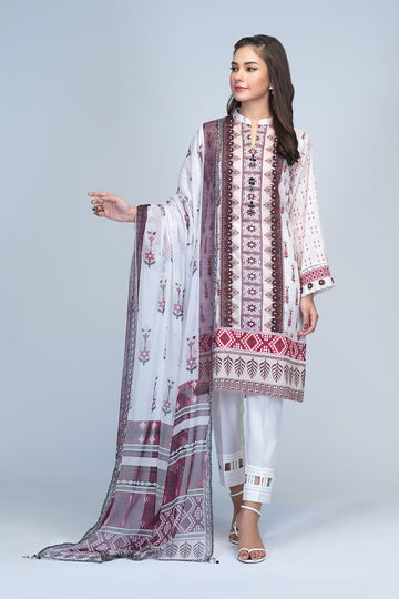 Bonanza Satrangi RSO213P85A O White Summer Collection