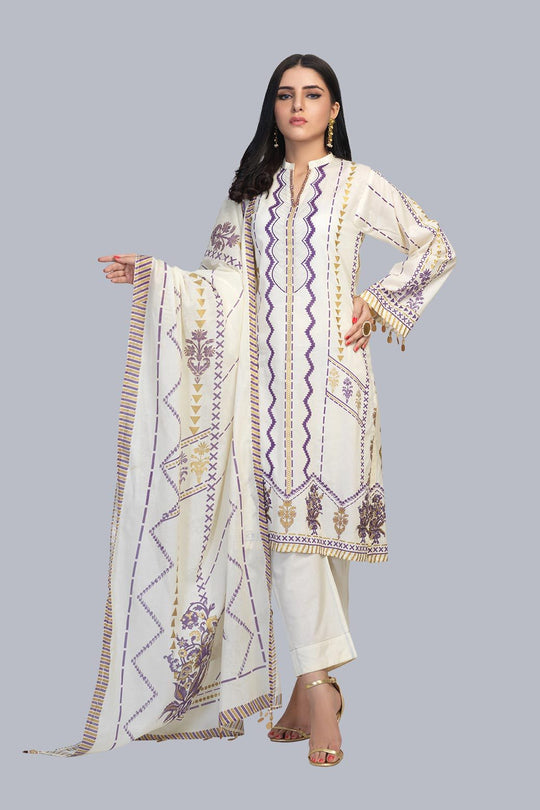 Bonanza Satrangi Rsr213p48 Ecru Eid Collection