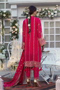 RED-CHIFFON-SUIT - 3 PC