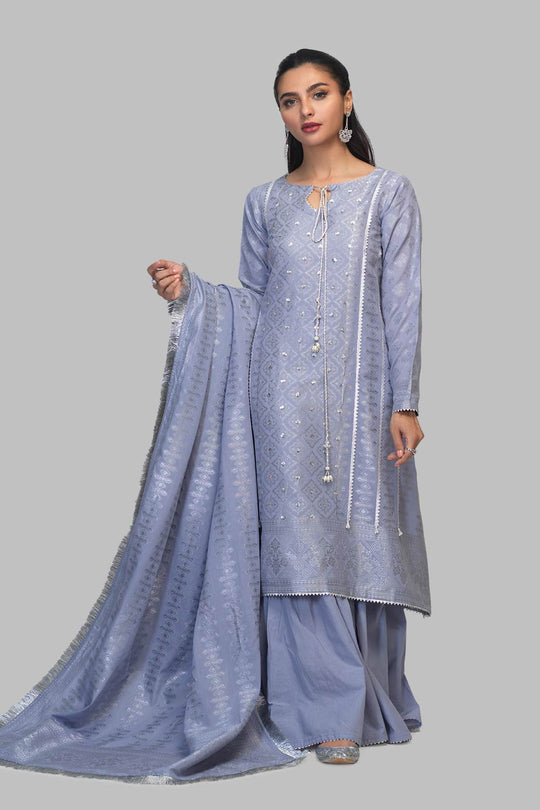 Bonanza Satrangi SSR213P54-S-BLUE Eid Collection