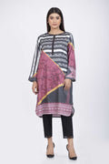 Black-Cotton Satin-Kurti