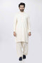Cream-Blended-Shalwar Suit