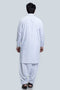 White-Blended-Shalwar Suit