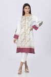 Beige-Cotton Satin-Kurti
