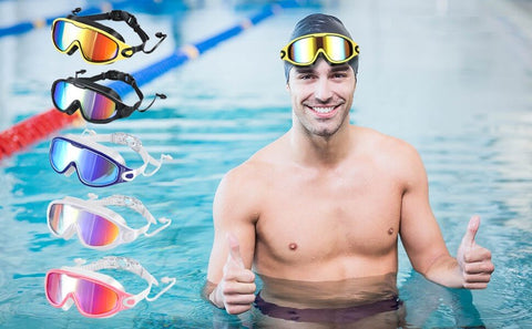 Wide Vision Swim Goggles for Men Women Youth Teen Anti-Fog No Leaking