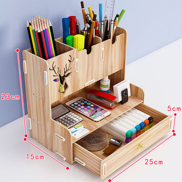 L-Shaped Stationery Organizer-Desk Solutions