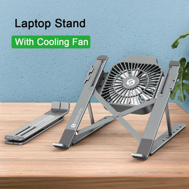 Detachable Laptop Stand With Cooling Fan-Desk Solutions