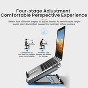 Air-Cooled Laptop Lifting Stand-Desk Solutions