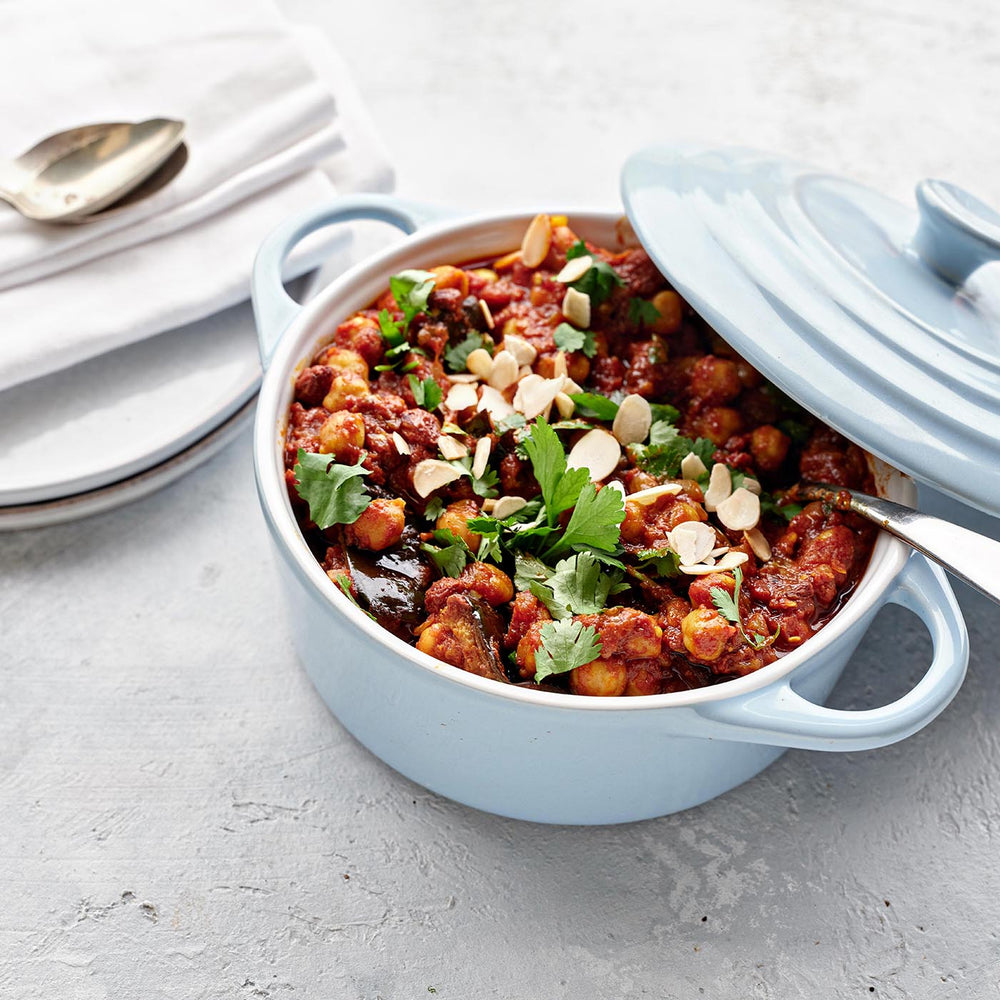 Aubergine Tagine, Chickpeas & Toasted Almonds Family Size