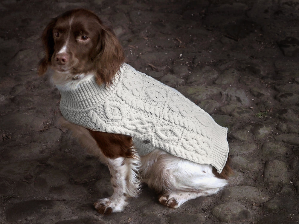 Aran Merino Wool Dog Coat
