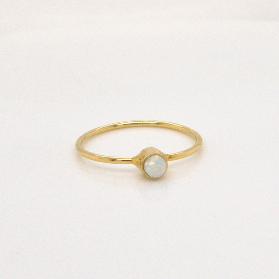 COSIMA MINI – Ring mit synthetischem Opal