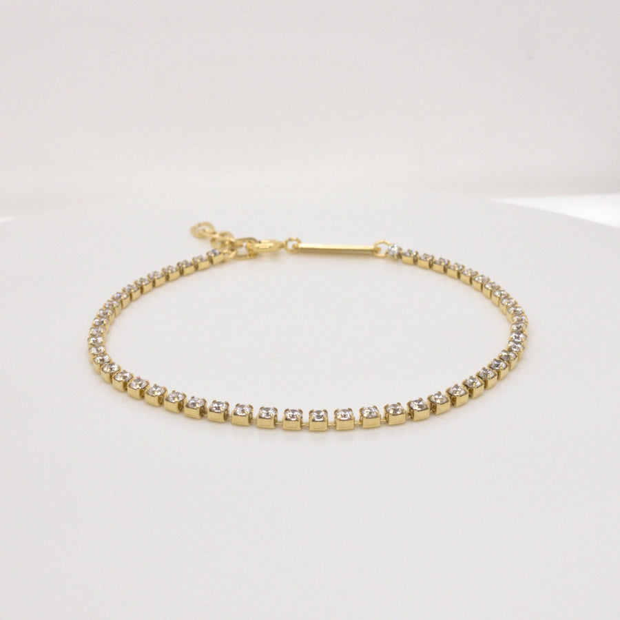 LETTICIA BOLD – Armband mit Strass // Silber, Gold oder Roségold